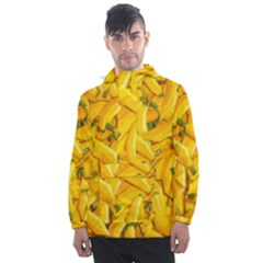 Geometric Bananas Men s Front Pocket Pullover Windbreaker by Sparkle