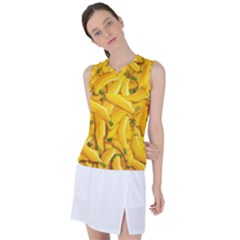 Geometric Bananas Women s Sleeveless Sports Top by Sparkle