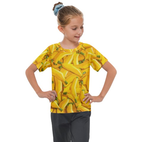 Geometric Bananas Kids  Mesh Piece Tee by Sparkle