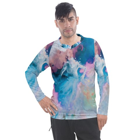 Colorful Beach Men s Pique Long Sleeve Tee by Sparkle