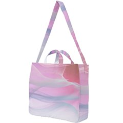Pink Fractal Square Shoulder Tote Bag