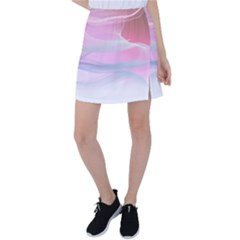 Pink Fractal Tennis Skirt by Sparkle