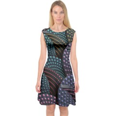 Fractal Sells Capsleeve Midi Dress