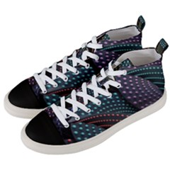 Fractal Sells Men s Mid-top Canvas Sneakers by Sparkle