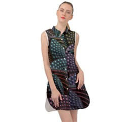 Fractal Sells Sleeveless Shirt Dress by Sparkle