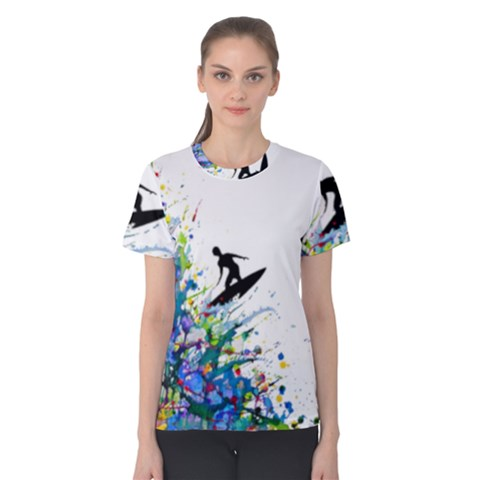 Nature Surfing Women s Cotton Tee by Sparkle