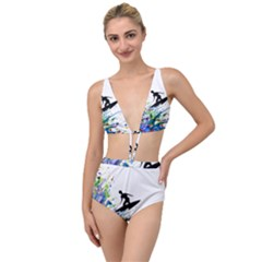 Nature Surfing Tied Up Two Piece Swimsuit by Sparkle