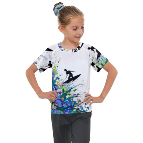 Nature Surfing Kids  Mesh Piece Tee by Sparkle