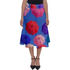 Rainbow Umbrella Perfect Length Midi Skirt