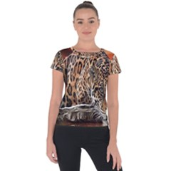 Nature With Tiger Short Sleeve Sports Top