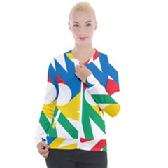 Logo Of Deaflympics Casual Zip Up Jacket