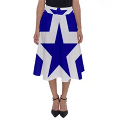 Logo Of League Of Nations Perfect Length Midi Skirt