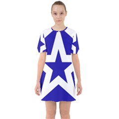 Logo Of League Of Nations Sixties Short Sleeve Mini Dress