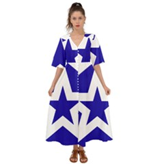 Logo Of League Of Nations Kimono Sleeve Boho Dress