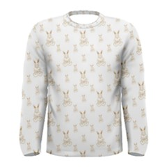 Happy Easter Motif Print Pattern Men s Long Sleeve Tee by dflcprintsclothing