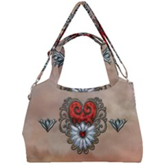 Wonderful Elegant Heart Double Compartment Shoulder Bag by FantasyWorld7