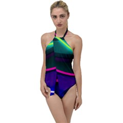Neon Wonder Go With The Flow One Piece Swimsuit