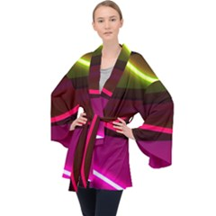 Neon Wonder Long Sleeve Velvet Kimono  by essentialimage