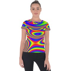 Rainbow Short Sleeve Sports Top