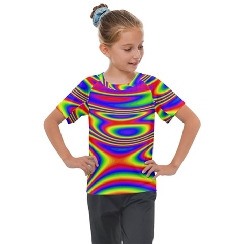Rainbow Kids  Mesh Piece Tee by Sparkle
