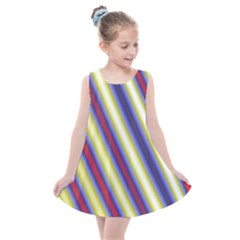 Colorful Strips Kids  Summer Dress