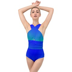Turquis Cross Front Low Back Swimsuit