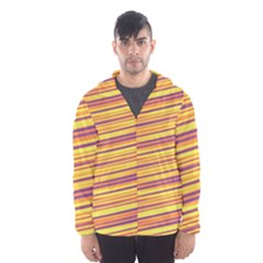 Rainbow Waves Men s Hooded Windbreaker