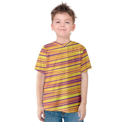 Strips Hole Kids  Cotton Tee by Sparkle