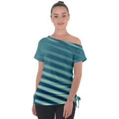 Blue Strips Tie-up Tee