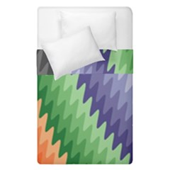 Zigzag Waves Duvet Cover Double Side (single Size)
