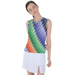 Grey Strips Women s Sleeveless Sports Top by Sparkle