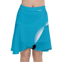 Fishing Chiffon Wrap Front Skirt