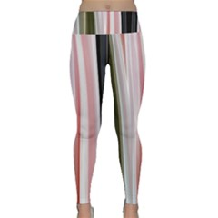 Satin Strips Lightweight Velour Classic Yoga Leggings