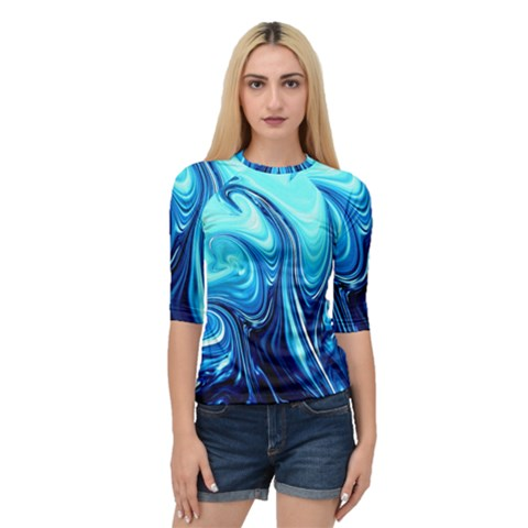Sunami Waves Quarter Sleeve Raglan Tee by Sparkle