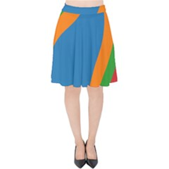 Rainbow Road Velvet High Waist Skirt