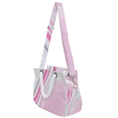 Modern Pink Rope Handles Shoulder Strap Bag