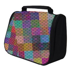 Random Colors Hexagon Full Print Travel Pouch (small)