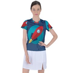 Rocket With Science Related Icons Image Women s Sports Top