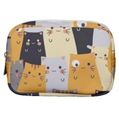 Seamless Pattern Cute Cat Cartoons Make Up Pouch (small) by Vaneshart