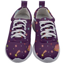 Space Travels Seamless Pattern Vector Cartoon Kids Athletic Shoes by Vaneshart