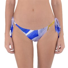 Uruguay Flags Waving Reversible Bikini Bottom