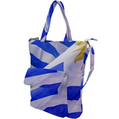 Uruguay Flags Waving Shoulder Tote Bag by dflcprintsclothing