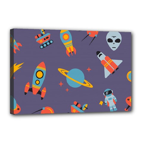 Space Seamless Pattern Canvas 18  X 12  (stretched)