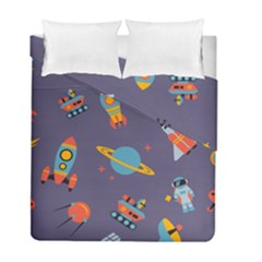 Space Seamless Pattern Duvet Cover Double Side (full/ Double Size)