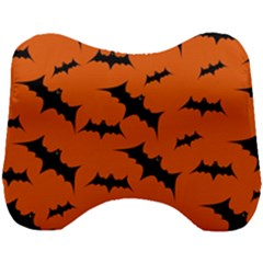 Halloween Card With Bats Flying Pattern Head Support Cushion