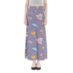 Outer Space Seamless Background Full Length Maxi Skirt