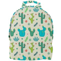 Cactus Succulents Floral Seamless Pattern Mini Full Print Backpack