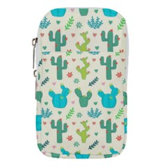Cactus Succulents Floral Seamless Pattern Waist Pouch (large)