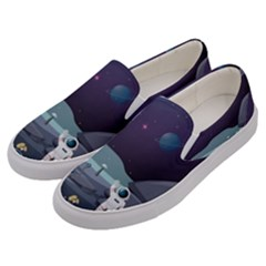 Alien Astronaut Scene Men s Canvas Slip Ons by Vaneshart