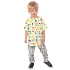 Seamless Pattern Musical Note Doodle Symbol Kids  Raglan Tee
